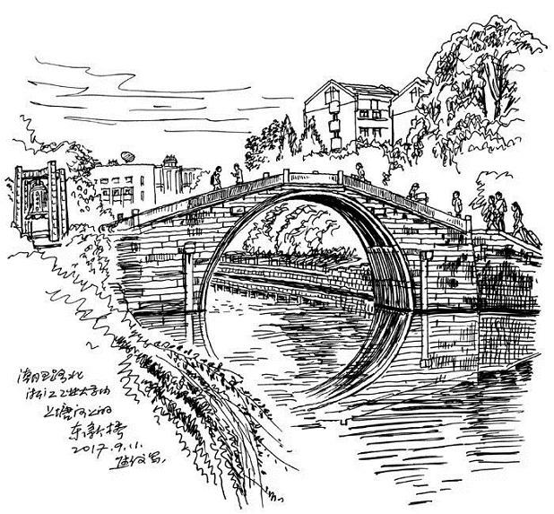 手绘杭城:杭州古桥,你走过几座?图片