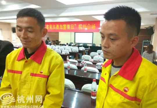 杭州加油站两员工勇擒歹徒