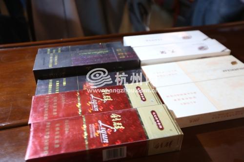 杭州警方查扣5420条假烟 你抽的高档烟也许几块钱一包