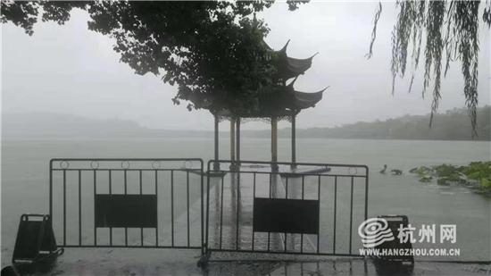"""""""利马奇""""到达,西湖景区临时封闭聚..."""