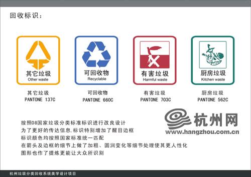 杭州垃圾分类四色垃圾桶出炉(组图)
