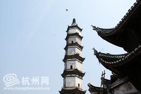 新叶古村拥有五百多年历史的抟云塔