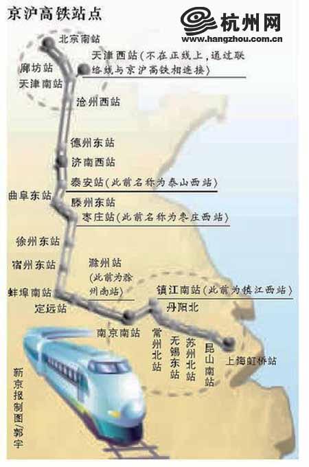 關注京滬高鐵:杭州直達北京5列車