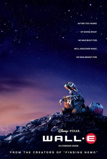 《机器人瓦力》海报(图片来自网络)