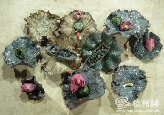 杭州小学生优秀陶艺作品展出 凝聚西湖最美元素