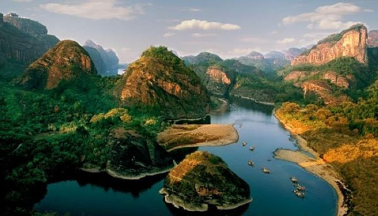 """素有""""睡美人""""之称的灵山,云碧峰国家森林公园,鄱阳湖候鸟保护区,文公"""