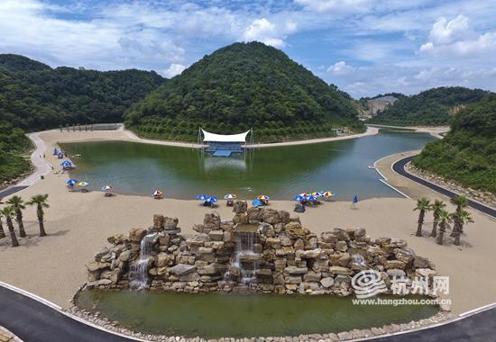 """宝寿山风景区一期项目""""空谷长滩""""于2017年7月21日试营业,每天下午5:00"""